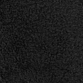 Tissu fourrure Bouclette Dolce noir x 10cm
