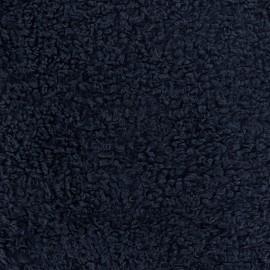 Fur Bouclette Dolce fabric - blue navy x 10cm