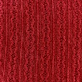 Tissu Maille tricot Ireland rouge x 10cm