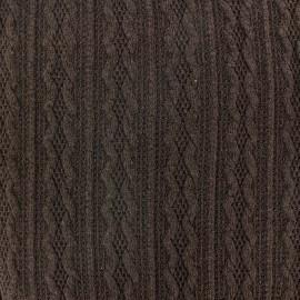 Tissu Maille tricot Ireland marron x 10cm