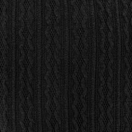 Tissu Maille tricot Ireland noir x 10cm