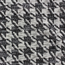 Stitched jersey fabric lurex Houndstooth x 10cm