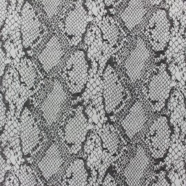 Tissu Gabardine Lycra serpent à paillettes écru x 10cm