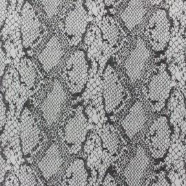 ♥ Coupon de tissu 140 cm X 140 cm ♥ Tissu Gabardine Lycra serpent à paillettes écru