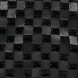 Fourrure Damier noir x 10cm