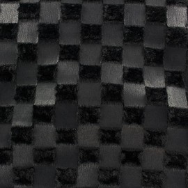 Fur Damier - black x 10cm