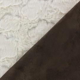 Fourrure Hily envers aspect daim crème x 10cm