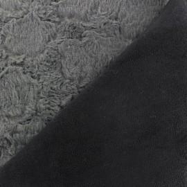 Fourrure Hily envers aspect daim gris x 10cm
