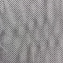 Quilted jersey fabric Little Diamond - light grey x 10cm