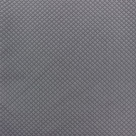 Quilted jersey fabric Little Diamond - slate grey x 10cm