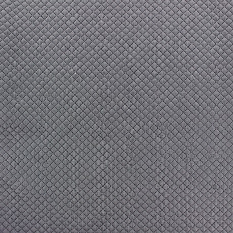 Quilted jersey fabric Littles Diamond - slate grey x 10cm