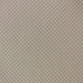 Quilted jersey fabric Little Diamond - sand x 10cm