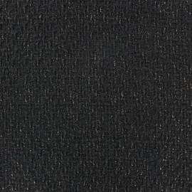 Wool fabric - black & gold x 10cm