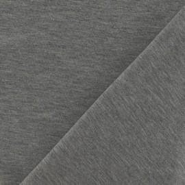 Tissu jersey uni gris chiné x 10cm