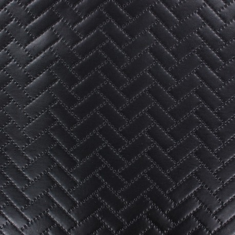 Quilted faux leather Brik - black x 10cm