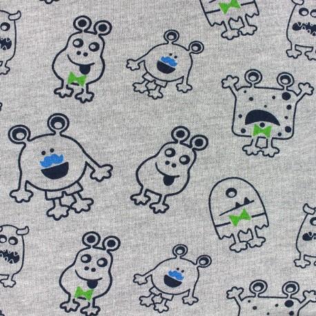 Fabric Jogging Magic Monster - grey x 10cm