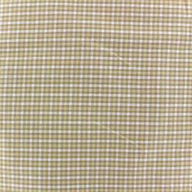 Tissu carreaux - natural x 10cm