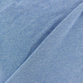 Oeko-Tex Jersey Fabric - mocked blue x 10cm