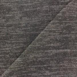 Tissu Maille légère chinée lurex gris foncé x 10cm