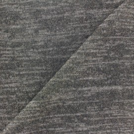 Light Stitch  flecked and lurex fabric  - light grey x 10cm
