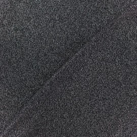 Light Stitch lurex fabric Glitter - black x 10cm