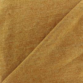 Tissu Maille légère lurex Glitter ocre x 10cm