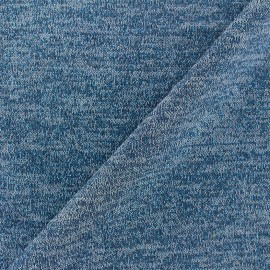 Light Stitch lurex fabric Glitter - bleuet x 10cm
