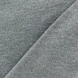 Tissu Maille légère lurex Glitter gris clair x 10cm