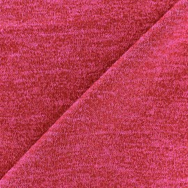 Tissu Maille légère lurex Glitter rouge fuchisa x 10cm