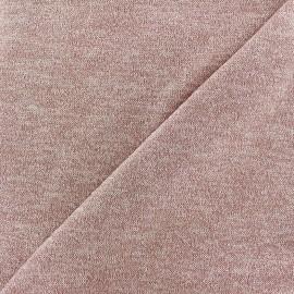 Tissu Maille légère lurex Glitter rose poudré x 10cm