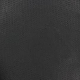 Imitation leather soft perforated Ebène - Circles  x 10cm
