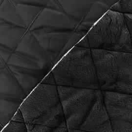 Tissu matelassé envers minkee noir x 10cm