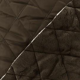 Tissu matelassé envers minkee marron x 10cm