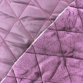 Tissu matelassé envers minkee mauve x 10cm