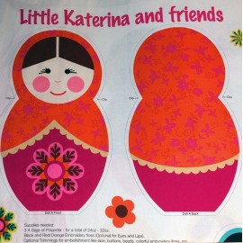 Tissu Little Katerina - Katerina Pannel x 60cm