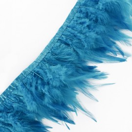 Pearly effect Feather braid 10cm - sky blue x 50cm