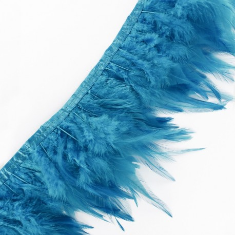 Pearly effect Feather braid 10 / 15 cm x 50cm - sky blue