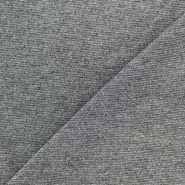 Tissu Maille viscose lurex Party acier x 10cm