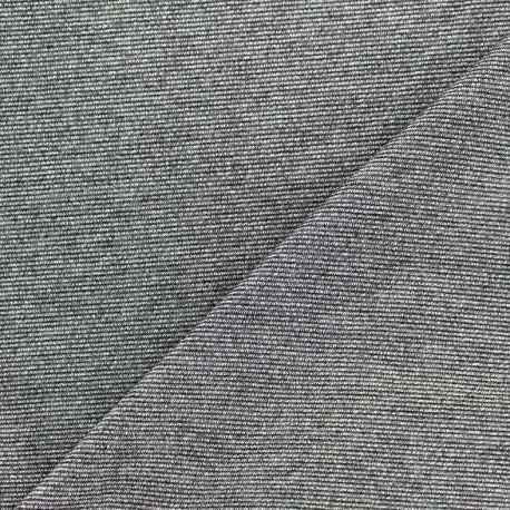 Viscose lurex Stitch Fabric Party - steel x 10cm