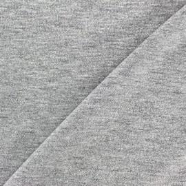 Tissu Maille viscose lurex Party argent x 10cm