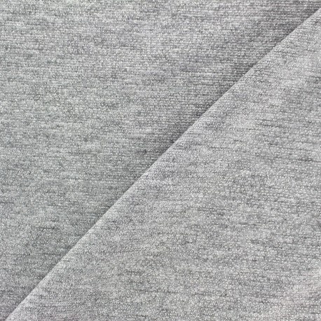 Viscose lurex Stitch Fabric Party - silver x 10cm
