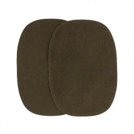 Imitation buckskin elbow patch - khaki