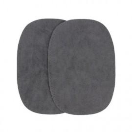 Elbow patch - dark grey false suede