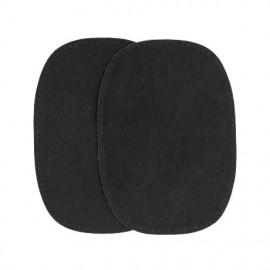 Elbow patch - black false suede