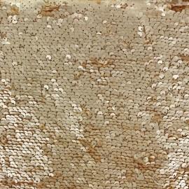 Little Mermaid sequin Fabric - gold matt x 10cm