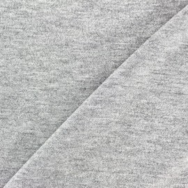 Viscose lurex Stitch Fabric Party - light silver x 10cm