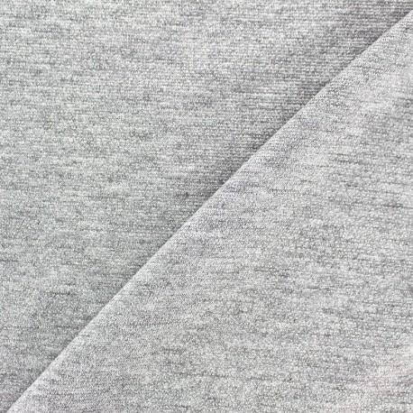 Tissu Maille viscose lurex Party argent clair x 10cm