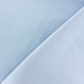 Tissu toile de coton uni CANEVAS bleu clair x 10cm