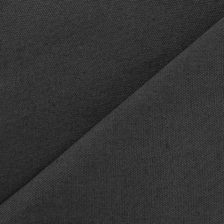 Tissu toile de coton uni CANEVAS anthracite x 10cm