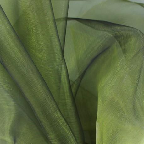 Tissu Organza kaki x 50cm